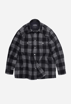 FRIZMWORKS프리즘웍스 Heavy flannel shirt jacket _ black