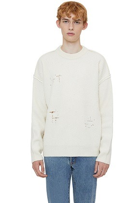Lab101랩원오원 CREAM NOMAD REVERSED CREW SWEATER