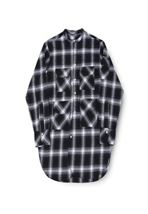 Ballute발루트 FISHERMAN TUNIC SHIRT (GREY CHECK)