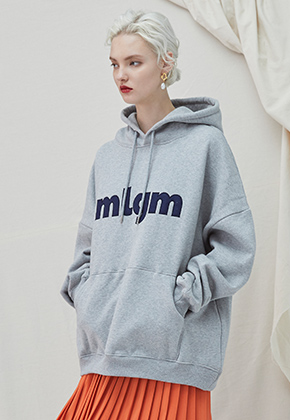 Millogrem밀로그램 MLGM Napping Hoody - gray