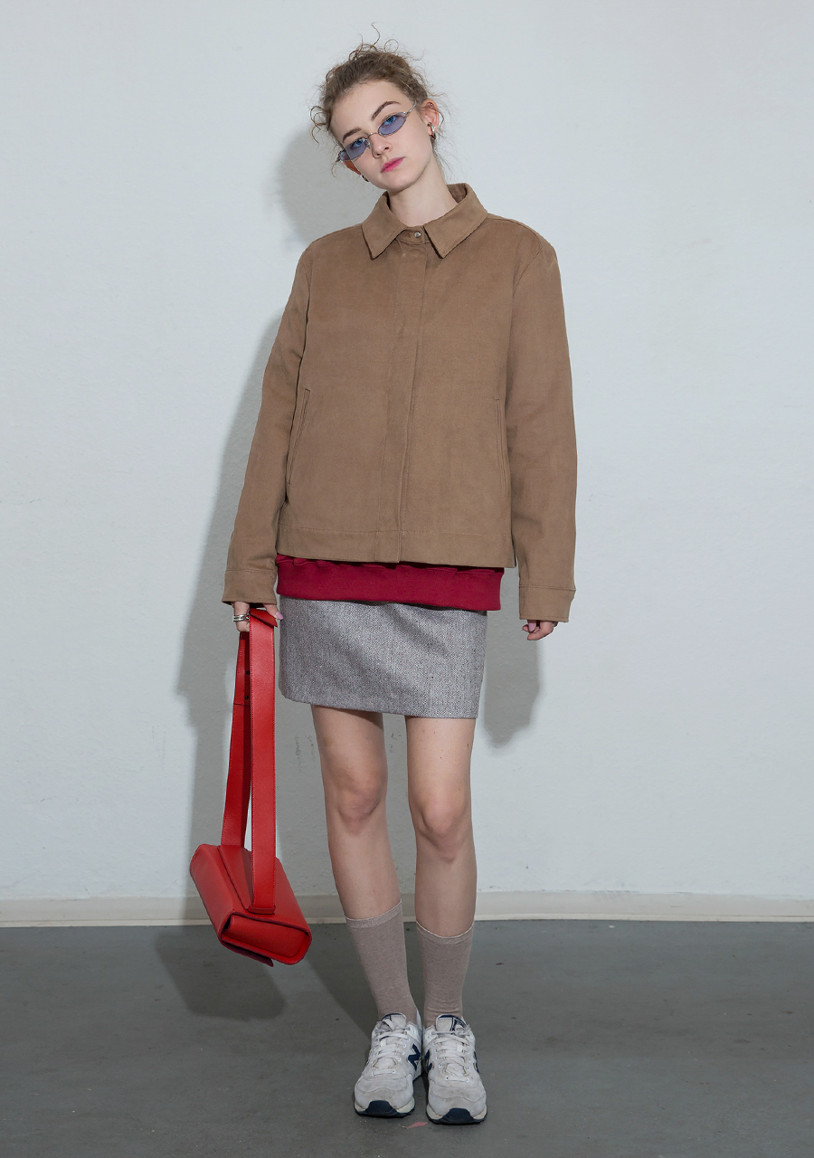More or Less모어올레스 MINIMAL COTTON JACKET - BEIGE