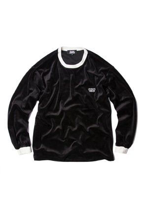 SANDPIPER샌드파이퍼 VELOUR CREW NECK BLACK