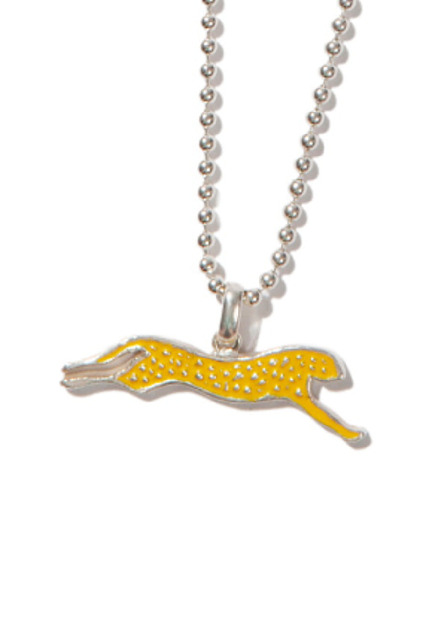 Kruchi크루치 Cheetah necklace (silver,yellow)