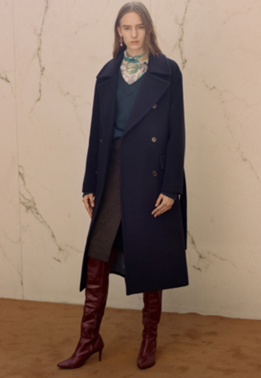 Anderssonbell앤더슨벨 VERONA CASHMERE MILITARY MAXI COAT awa151w(Navy)