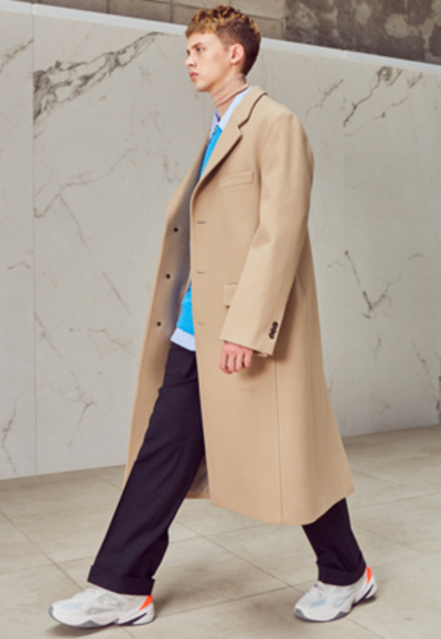 Anderssonbell앤더슨벨 CHRISTOPHER SINGLE LONG COAT awa165m(Beige)