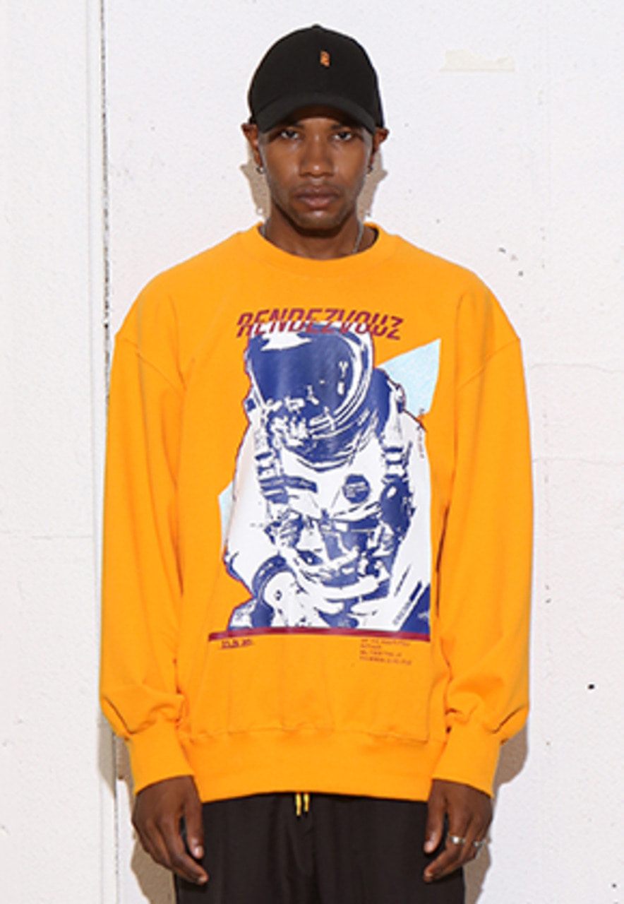 RDVZ SPACE MAN SWEAT TOP ORANGE
