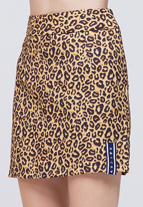 Romantic Crown로맨틱크라운 Leopard Skirt_Brown