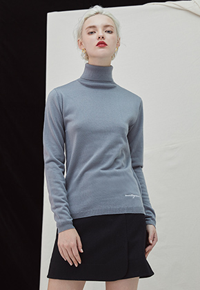 Millogrem밀로그램 Embo Turtleneck - gray