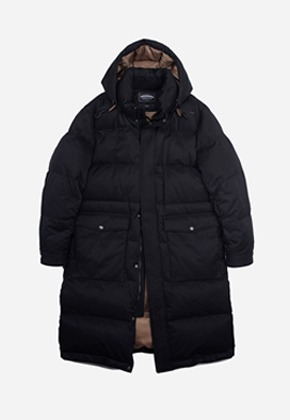 FRIZMWORKS프리즘웍스 Annual goose down long parka _ black