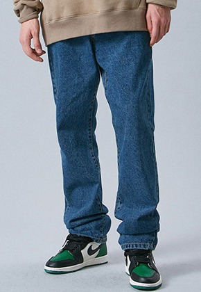 Voiebit브아빗 V232 NONE SPAN WIDE DENIM PANTS  BLUE