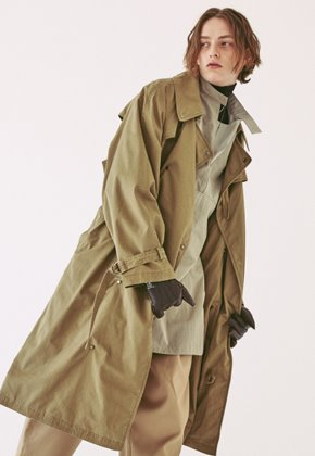 Ooparts오파츠 OPT18FWJK02KH Over-sized Military Coat Khaki