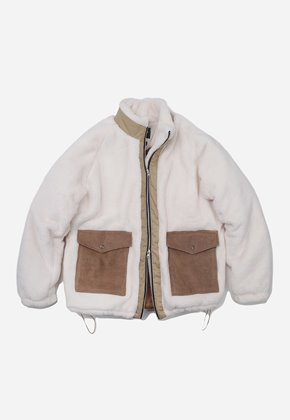 FRIZMWORKS프리즘웍스 Heavy fleece grizzly jacket _ ivory
