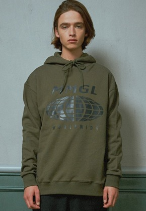MMGL미니멀가먼츠랩 Worldwide overfit hooded sweatshirt (Khaki)