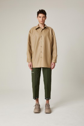 PIANARI피어나리 PIANARI Signature Leather Shirt (Beige)
