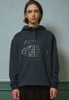 MMGL미니멀가먼츠랩 Worldwide overfit hooded sweatshirt (Navy)