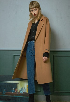 MMGL미니멀가먼츠랩 Long handmade wool coat (Camel)