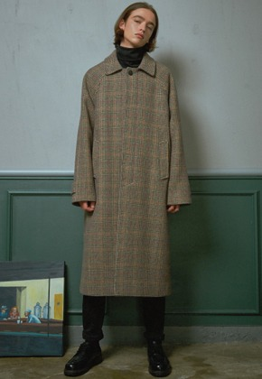MMGL미니멀가먼츠랩 Long mac coat (Wool-check)