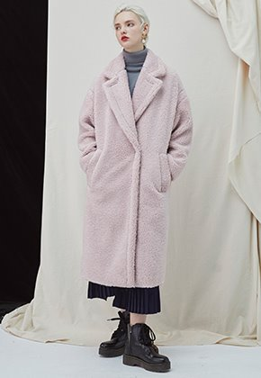 Millogrem밀로그램 Snuggle Teddy Coat - Pink