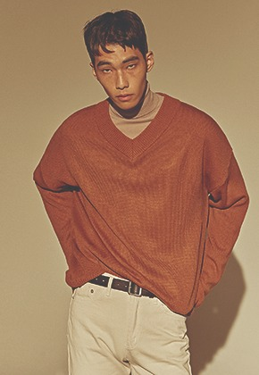 Deans딘스 [DEANS] OVER DROP V SWEATER_BROWN