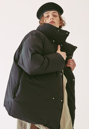 Ooparts오파츠 OPT18FWJK03BK Duck Down Double Jacket Black