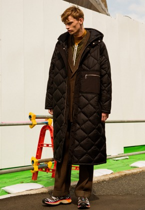 Anderssonbell앤더슨벨 UNISEX ALEXON INSIDE OUT QUILTED HOOD COAT awa180u(Black)