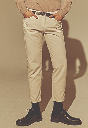 Deans딘스 [DEANS] SLIM LINE COTTON PANTS_CREAM