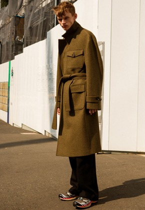 Anderssonbell앤더슨벨 UNISEX FRANCES MILITARY ROBE COAT awa179u(Khaki)