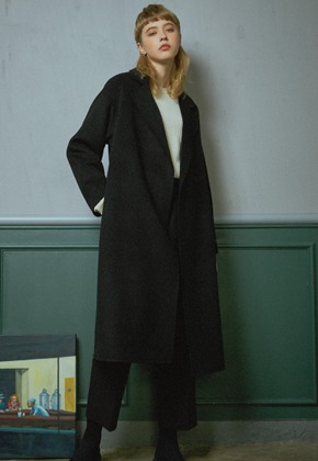 MMGL미니멀가먼츠랩 Long handmade wool coat (Black)
