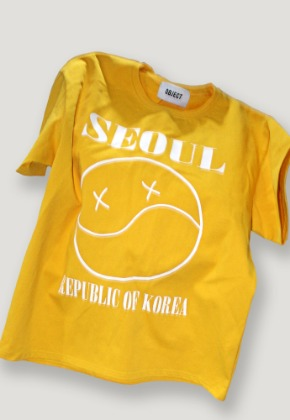 Object오브젝트 SEOUL SMILE T-SHIRT (GOLD)