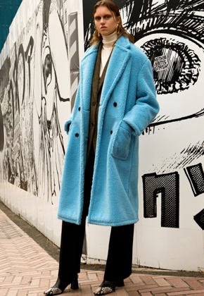 Anderssonbell앤더슨벨 TEDDY BEAR WOOL DOUBLE COAT awa174w(SkyBlue)