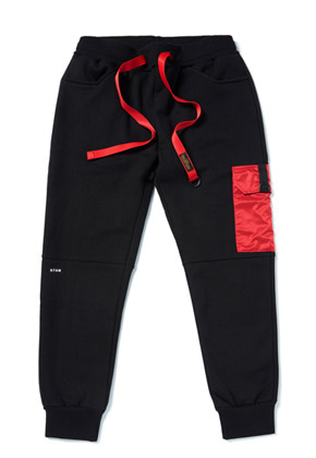 Stigma스티그마 STGM POCKET HEAVY SWEAT JOGGER PANTS BLACK