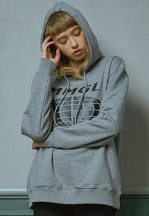 MMGL미니멀가먼츠랩 Worldwide overfit hooded sweatshirt (M/grey)