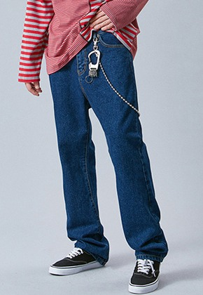 Voiebit브아빗 V232 NONE SPAN WIDE DENIM PANTS  DEEP