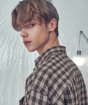 Trip LE Sens트립르센스 OVER FIT STAN CHECK SHIRTS BROWN