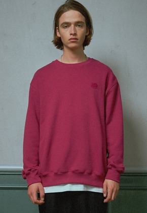 MMGL미니멀가먼츠랩 Wappen semi-oversized sweatshirt (Purple-wine)