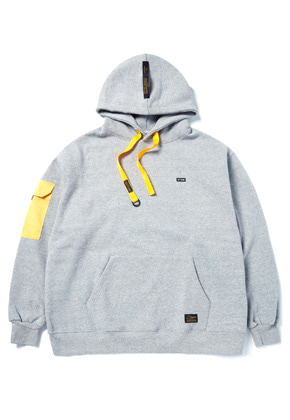 Stigma스티그마 STGM POCKET OVERSIZED HEAVY SWEAT HOODIE GREY