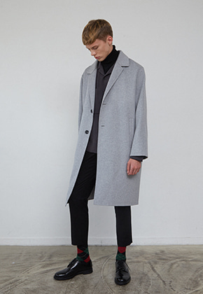 Muguet뮤게 BACK POCKET HANDMADE COAT (GRAY/CAMEL)