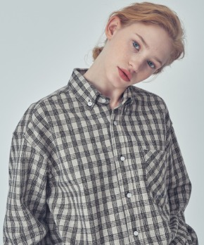 Trip LE Sens트립르센스 OVER FIT STAN CHECK SHIRTS BEIGE