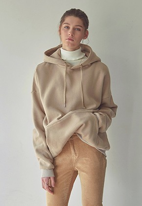 Yan13얀써틴 Y13 EMBROIDERY HOODY_LIGHT BEIGE