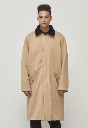 D.prique디프리크 Oversized Long Coat Beige (D18F322)