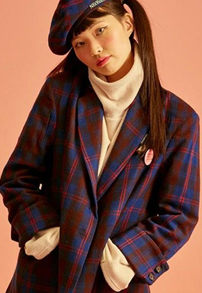 NEONMOON네온문 NEONMOON CHECK JACKET - BLUE