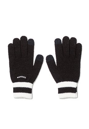 WKNDRS위캔더스 WAVY LOGO GLOVE (BLACK)