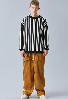 Voiebit브아빗 V255 SOLID CORDUROY WIDE PANTS  CAMEL