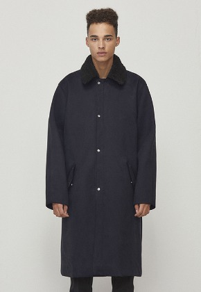 D.prique디프리크 Oversized Long Coat Navy (D18F321)