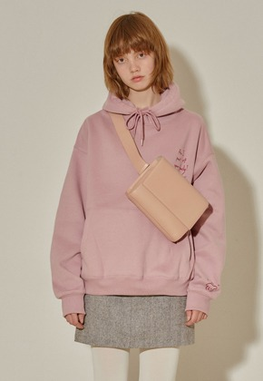 More or Less모어올레스 CAMPAIGN NAPPING HOOD TOP - PINK