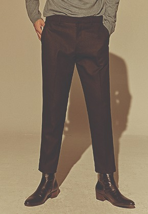 Deans딘스 [DEANS] WOOL STRAIGHT SLACKS_BLACK