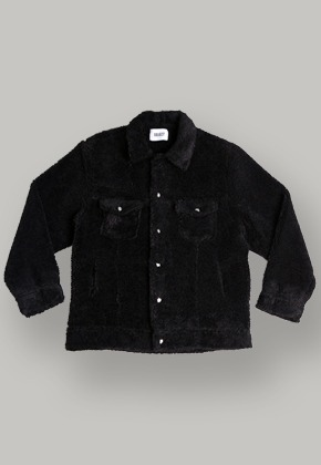 Object오브젝트 SHERPA TRUCKER JACKET (BLACK)