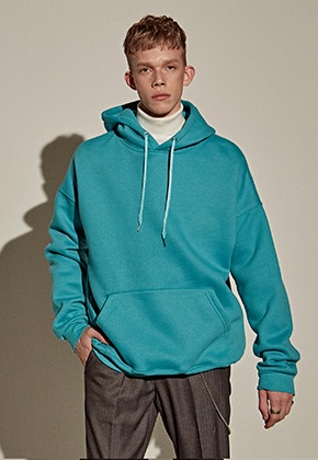 Yan13얀써틴 Y13 EMBROIDERY HOODY_BLUE GREEN