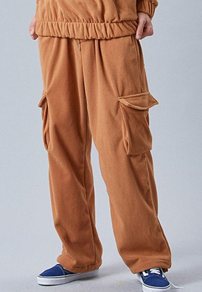 Voiebit브아빗 V254 FLEECE CARGO WINDE PANTS  BROWN