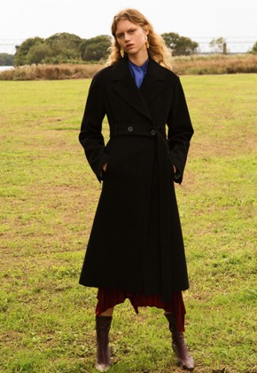 Anderssonbell앤더슨벨 HAYDEN LONG BELTED COAT awa176w(Black)